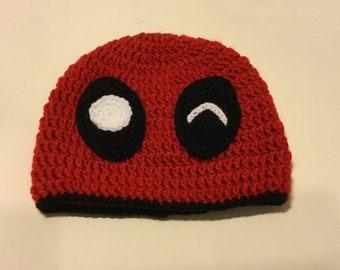 Deadpool Beanie - Crochet Hat for Preteen/Teen/Adult