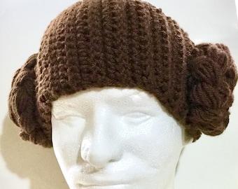 Crochet Star Wars-Inspired Leia Headband/Ear Warmer-Child/Teen/Adult