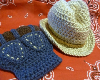 a2302185224d7 Boot Scootin  Booty Cover and Cowboy Hat - Crochet Diaper Cover and Hat -  Great for Photos and Boot Scootin  Fun