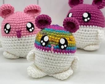 Happy Hamster, Kawaii Hamster, Handmade, Chunky Hamster Crochet Toy, KayteDids, Hatching Hamster, Gifts for Kids