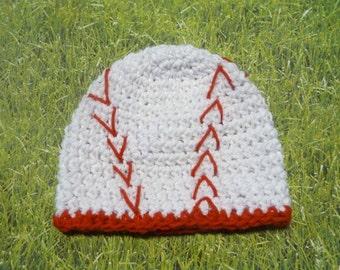 Baseball Baby - Newborn Crochet Hats - Great Photo Prop