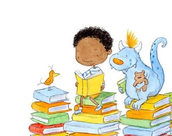 Afternoon Storybook - Art Print - Children
