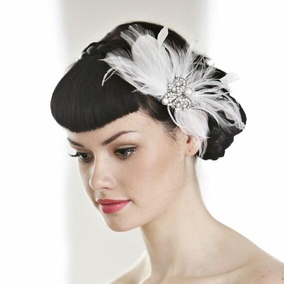 Wedding Vintage Style Hair Accessories: Items Similar To Vintage Inspired Wedding Hair Accessory