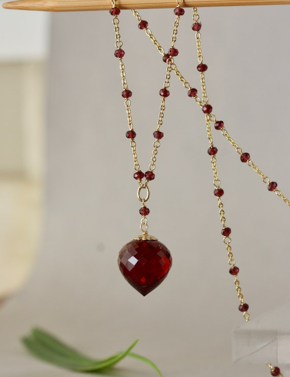 for Mom for Wife Bijoux Black Silver Red Y Necklace for Sister Spring Trends Birthday Gift for Daughter Girlfriend