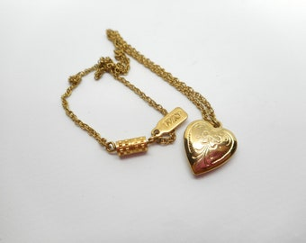 1928 Heart Locket Necklace