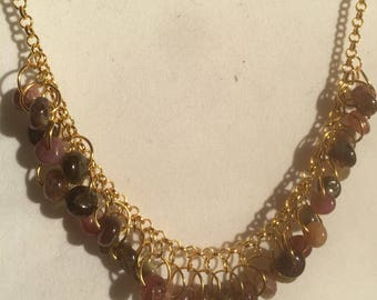 Tourmaline and Gold Necklace