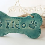 Custom Dog Bone Ornament, Personalized Clay Dog Bone, Christmas Ornament, Custom Pet Ornament, Personalized Gift for Dog  Lover