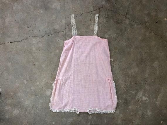 1920s | 1930s Soft Pink Onesie Romper Slip Suit