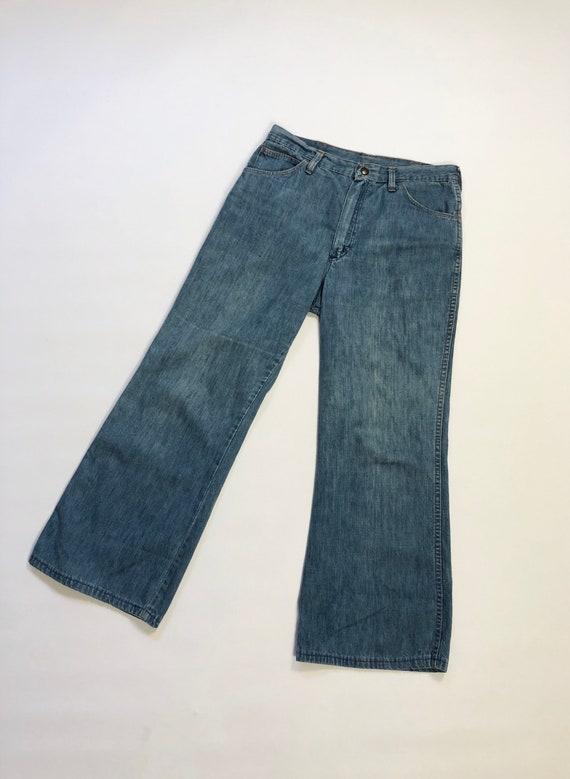 32 x 27 Vintage 1970s Wranglers Wide Leg Denim Pan