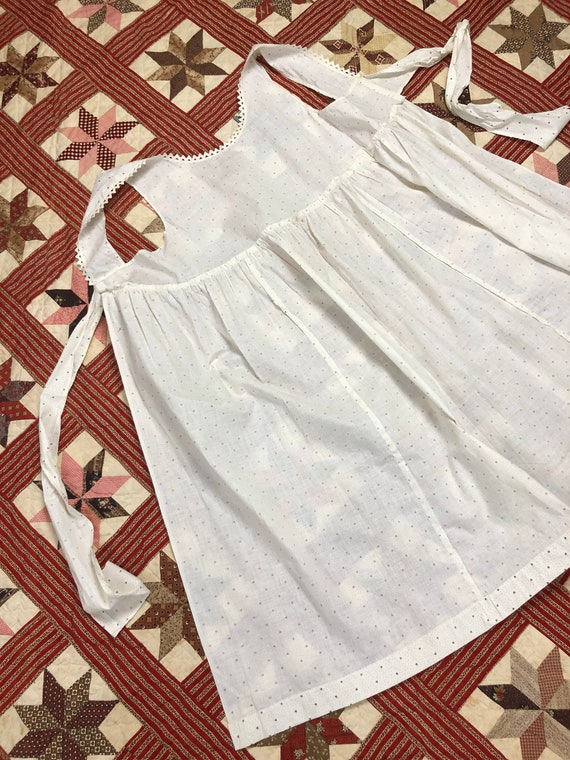 Antique Early 1900's | 1930's Calico Cotton White… - image 8