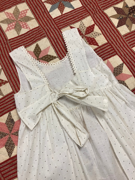 Antique Early 1900's | 1930's Calico Cotton White… - image 1
