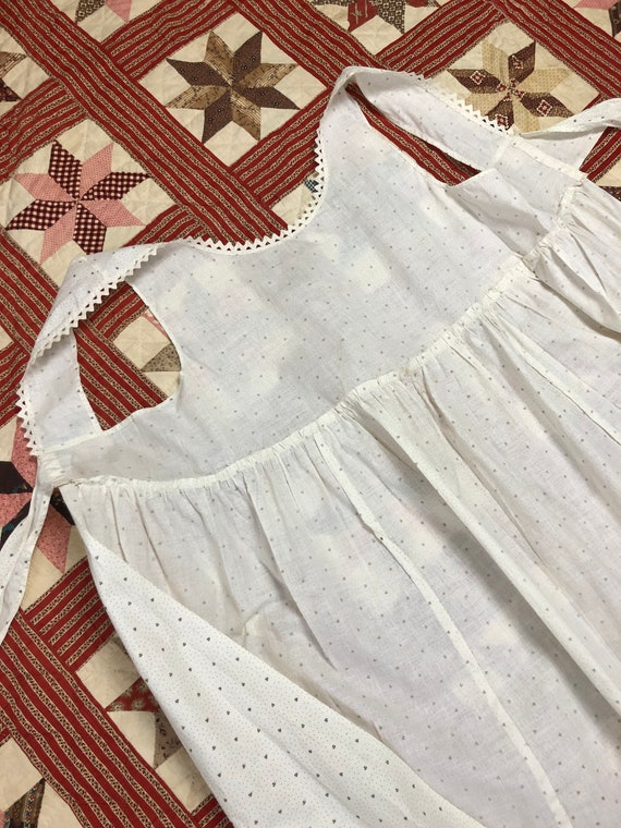 Antique Early 1900's | 1930's Calico Cotton White… - image 6