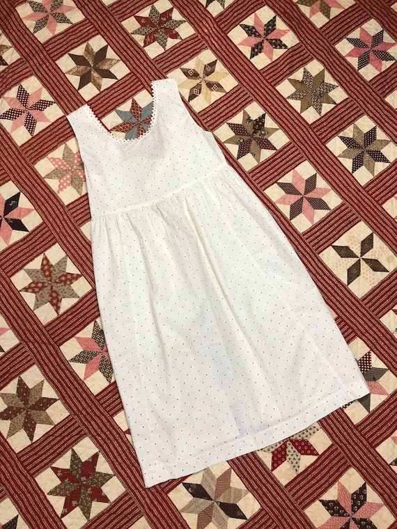 Antique Early 1900's | 1930's Calico Cotton White… - image 2