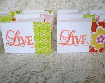 6214: Set of 15, Mini Note Cards. Blank inside