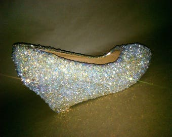 34959807f85ca Sparkling wedges for comfortable wedding or special occasion