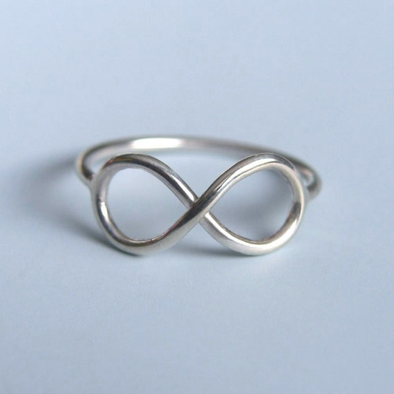 Infinity Symbol Ring Sterling Silver Infinity Ring Etsy