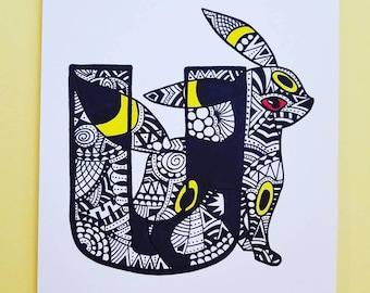 Letter Art: U - Z