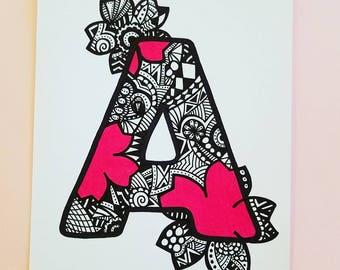 Letter Art: A - J