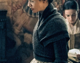 Outlander Claire Rent Shawl Triangle Tweed Highlands Wool, 4 Color Options, Made to Order