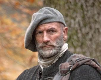 Outlander Tam Scottish Bonnet, Hand Knit Felted Highlands Wool, 12 Different Colors, Made to Order