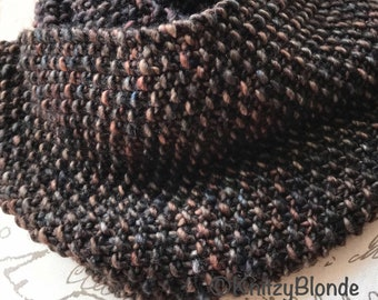 Outlander Infinity Scarf Cowl Seed Stitch Luxe Merino Wool Chunky Yarn - 4 Colors