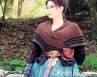Carolina Shawl, Outlander Claire Fraser, Drums of Autumn, Triangle Shawl, Wool Blend, Made to Order