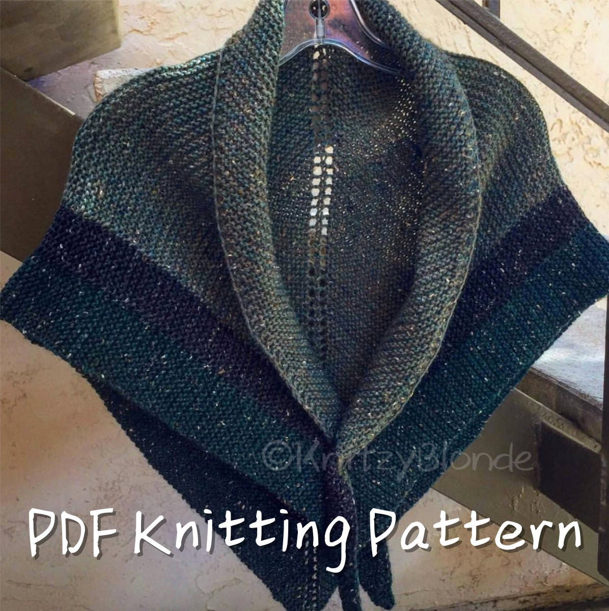 PDF Knitting Pattern Claire\'s Rent Shawl Outlander-Replica