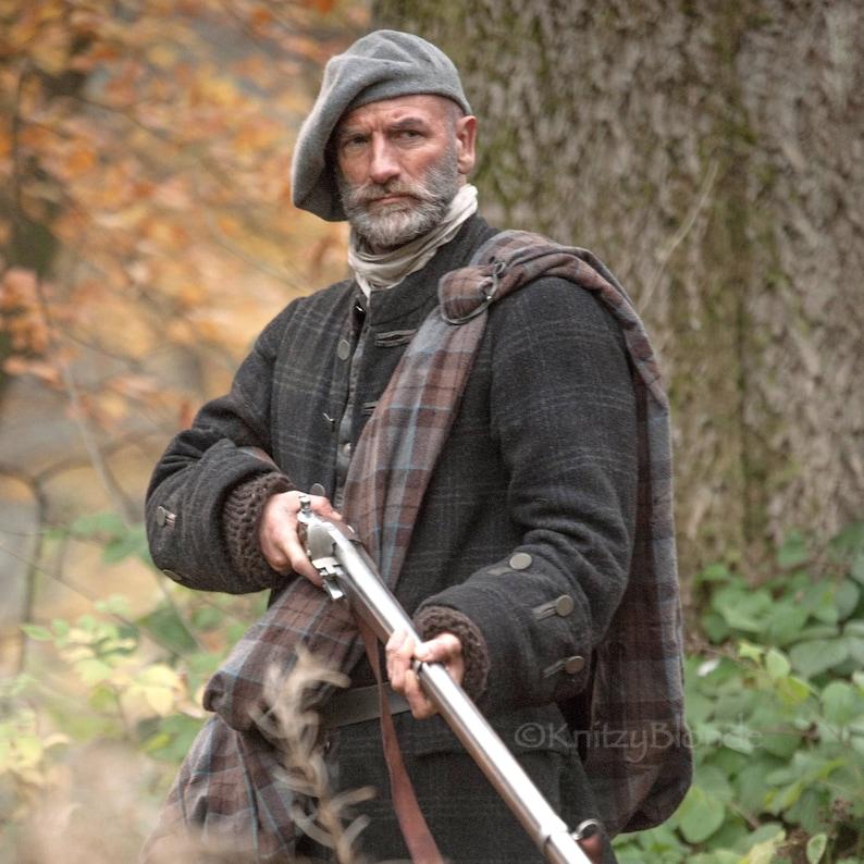 5950884c9dc91 Outlander Tam Scottish Bonnet Hand Knit Felted Highlands