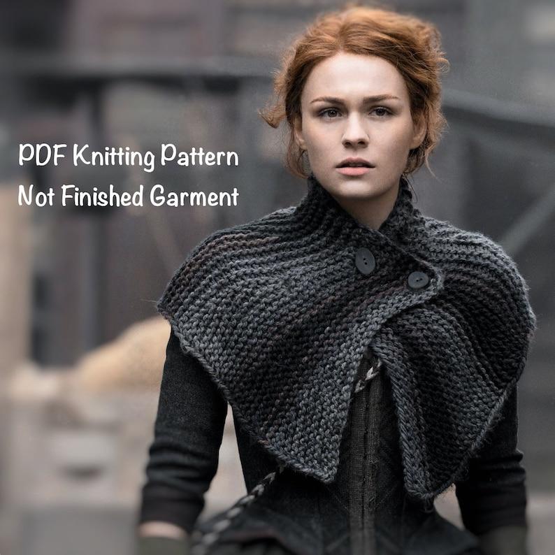 PDF Knitting Pattern Brianna's Capelet Outlander Season 4 image 0