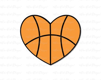 basketball heart svg etsy rh etsy com Gold Heart Clip Art Basketball Basketball Heart Designs