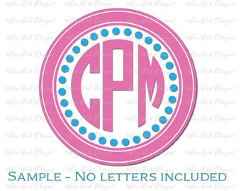 Circle Monogram Frame SVG DXF PNG for Cameo, for Cricut & other electronic cutters