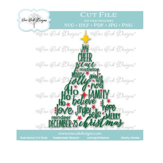 Christmas Tree SVG Datei PDF / Dxf / Jpg / Png / Weihnachten | Etsy