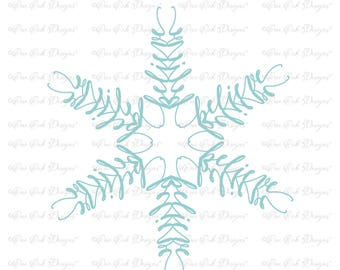 Believe SVG Snowflake SVG / DXF / pdf / png / jpg / for Cameo, Cricut & other electronic cutters