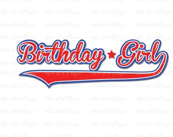 Baseball Birthday Girl SVG File  svg dxf pdf png jpg for Cameo for Cricut & other electronic cutters