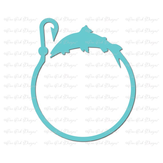 Download Fish Hook Circle Monogram Svg Dxf Png Cut File For Cameo Etsy