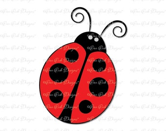 Lady Bug Ladybug SVG DXF PNG for Cameo, for Cricut & other electronic cutters