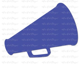 Cheer SVG Megaphone SVG  Solid Vector / DXF / pdf / png / jpg svg Cut File for Cameo, Cricut Explore & other electronic cutters