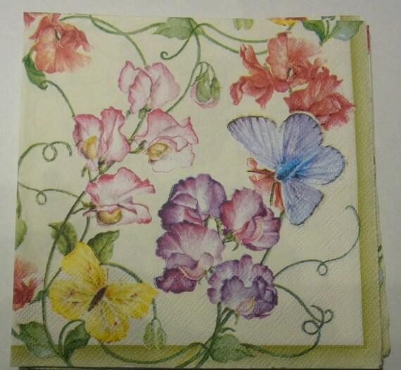 4 solo Almuerzo Servilletas de Papel Vintage Para Fiesta Rosa Puntos Decoupage Art W//69