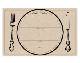 Dinner Party Fill in Invitations pack of 10