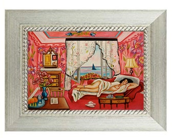 Henri Matisse art print, Small framed art print,  Home decor
