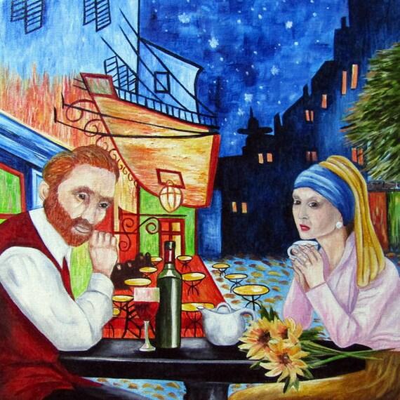 Van Gogh Painting Vincent Van Gogh Original Oil Painting Cafe Terrace At Night Starry Night