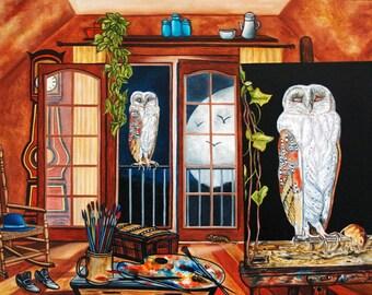 Print, Fine Art Print, Owl print, Art Prints, Wall Art Prints, Bird Prints, Animal Prints
