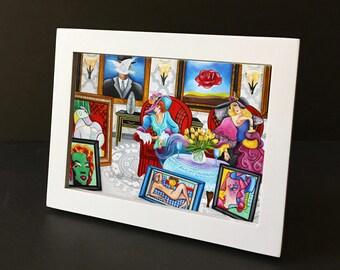 Art Print, Interior, Living room, Framed print, Small gift, Home Decor