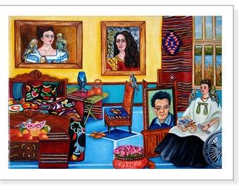 Art Print Frida Kahlo, Frida Kahlo, Frida Kahlo Bedroom, Interior, Wall Art Print