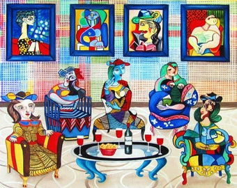 Print, Picasso Picasso print, Wall art painting, Home Decor, Pablo  Picasso inspired art