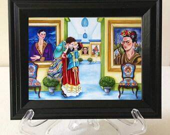 Frida Kahlo Framed Print, Frida Kahlo, Interior Bedroom, Mexican Home Decor, Mexican Art