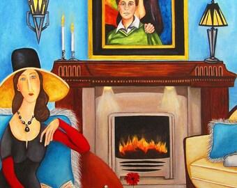 Modigliani, Modigliani Print, Modi, Portrait, Art Print, Wall Art, Home Decor, Art, Print, Art Print