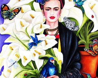 Art Prints, Frida Kahlo, Frida Kahlo Poster, Frida Kahlo Portrait, Mexico, Mexican wall art