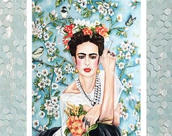 Frida Kahlo framed print, Frida Kahlo art print, feminist art print