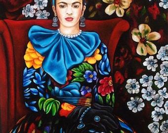Frida Kahlo, Frida Kahlo Art Print, Frida Kahlo, Frida Kahlo Poster, Frida Kahlo Portrait, Fine Art Print, Mexican Decor